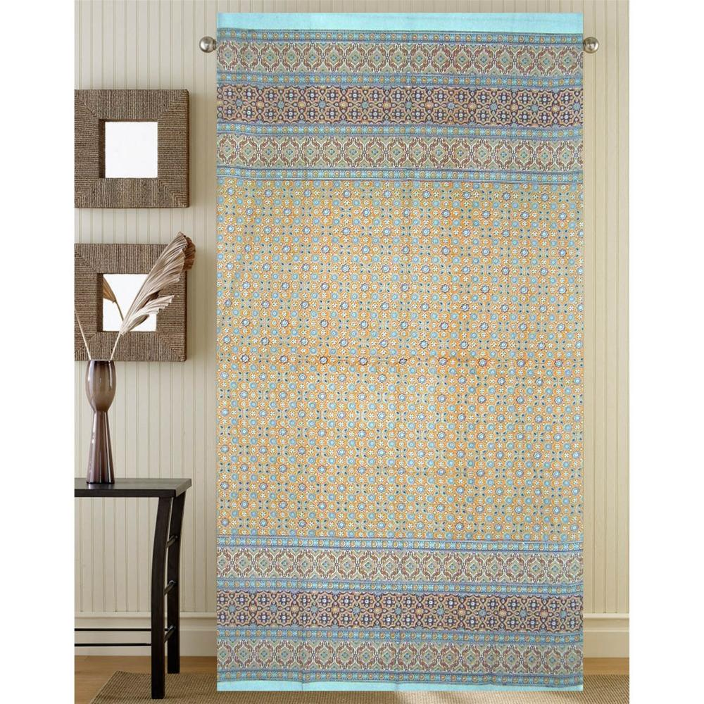 Window Panel Moroccan Foulard Blue