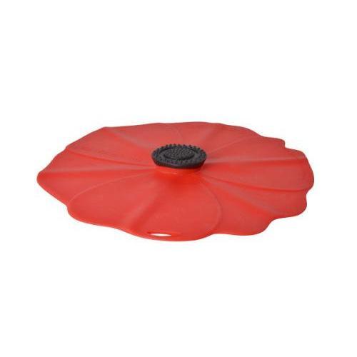 Bowl Lid Cover Poppy Red 09in Medium