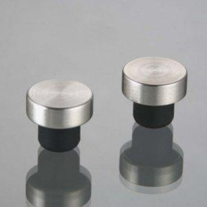 Wine Bottle Stopper Rubber & Stainless 2 Pieces (6.99ea)