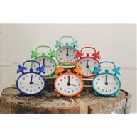 Alarm Clock 6 Asst Color 2.75in High