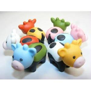 Eraser Cows New White Feet 6 Colors