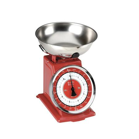 Kitchen Scale Analog Vintage Red