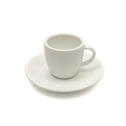Demitasse Cup & Saucer Basics White Round 100ml