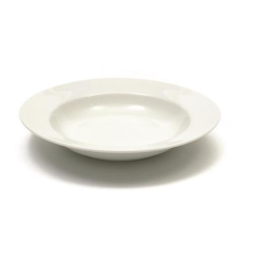 Dinnerware White Basics Bowl Shallow Rim 9in Soup