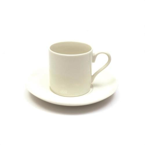 Demitasse Cup & Saucer White Basics Straight 100ml