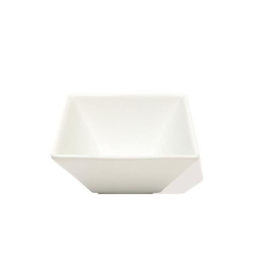 Dinnerware White Basics Bowl Square Flared 3.45in Dipping