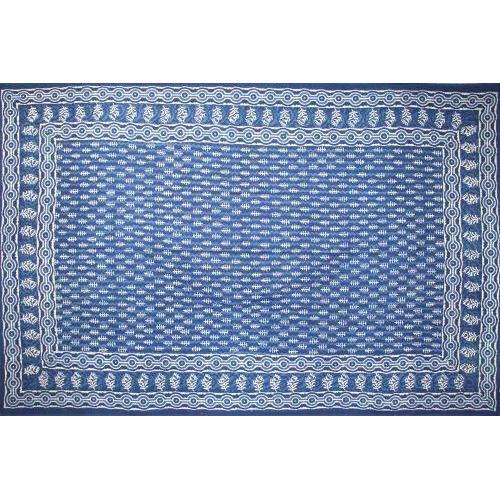 Tapestry Twin Size Indigo Dabu Leaf