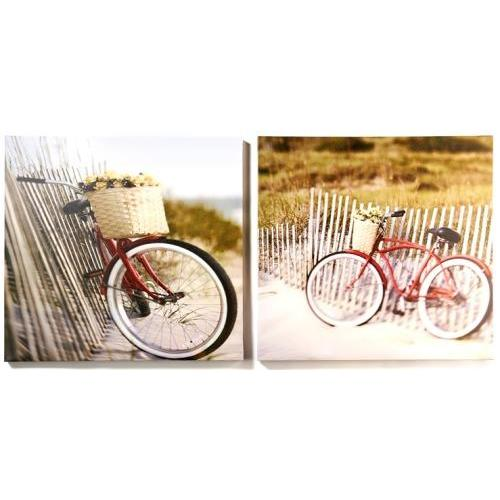Canvas Print Bike On Beach Country ( Each Piece Sold Separately) (discontinued)
