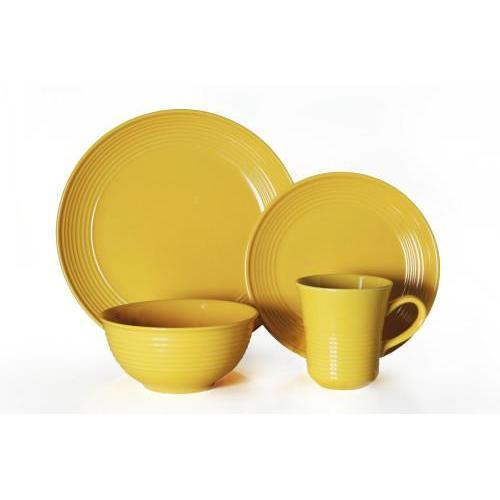 Dinnerware Set Cabo Yellow 16 Piece Set (DP 5.99,SP 3.99 BW 4.99, MG 1.99)