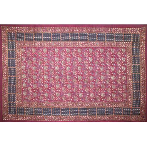 Tapestry Twin Size Floral Pastel Napthol Red