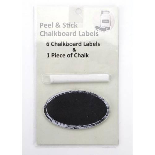 Chalkboard Labels Oval  And Chalk