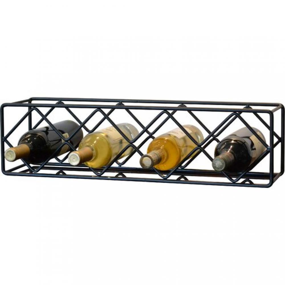 Wine Bottle Holder Rack Standing Wire 4 Bottle Diamond