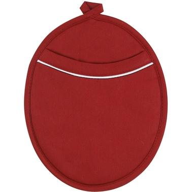 Oven Mitt Round Pocket Scarlet Red
