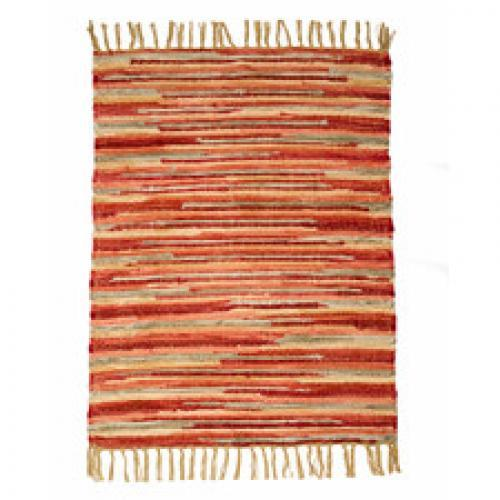 Velvet 2ft X 3ft Rug Coral Sunset