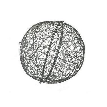 Outdoor Decorative Metal Orb Wire Halves
