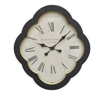 Wall Clock Roman Numeral Wood Face-white