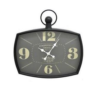 Metal Wall Clock Bowed-square Face-Fabrique De Chocolat
