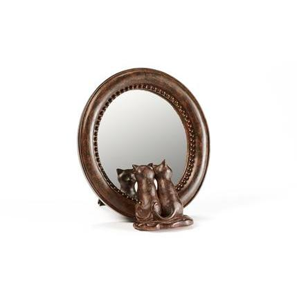 Round Mirror With Cats