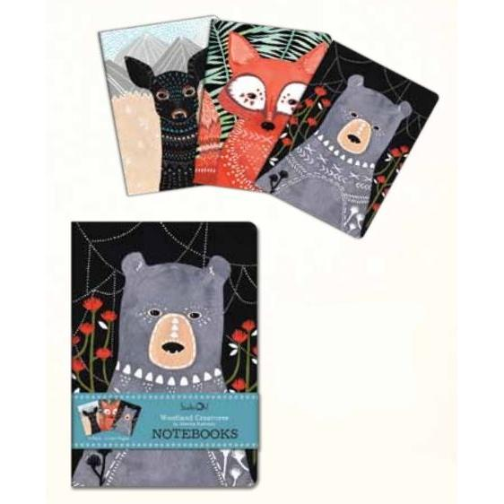 Notebook Trios - Woodland Creatures