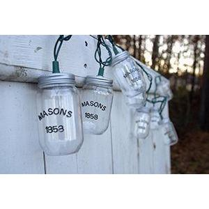 String Lights Mason Jars Clear