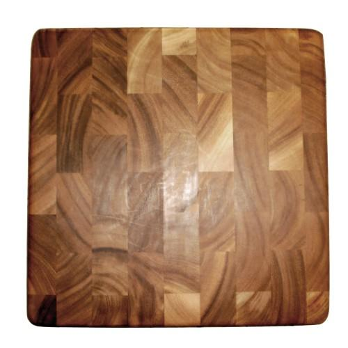Cutting Board Wooden End Grain Square 14x14x1.25in