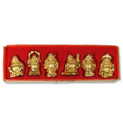 Buddha Set Of 6 Gold