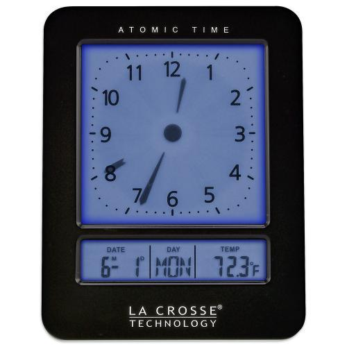 Alarm Clock Atomic Digital Analog Style