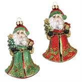 Ornament 2 Assorted 5 Inch Santa