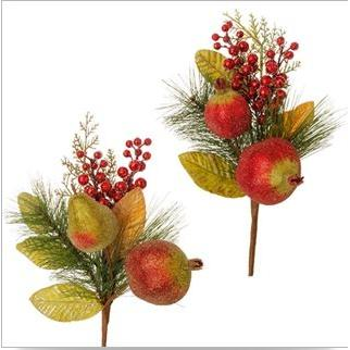 Decor Sprigs Beaded Fruit