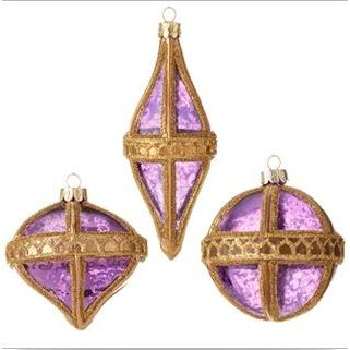 Ornament Beaded Purple