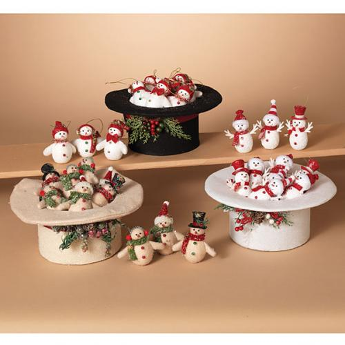 Christmas - Fabric Top Hat With 18pc 11in