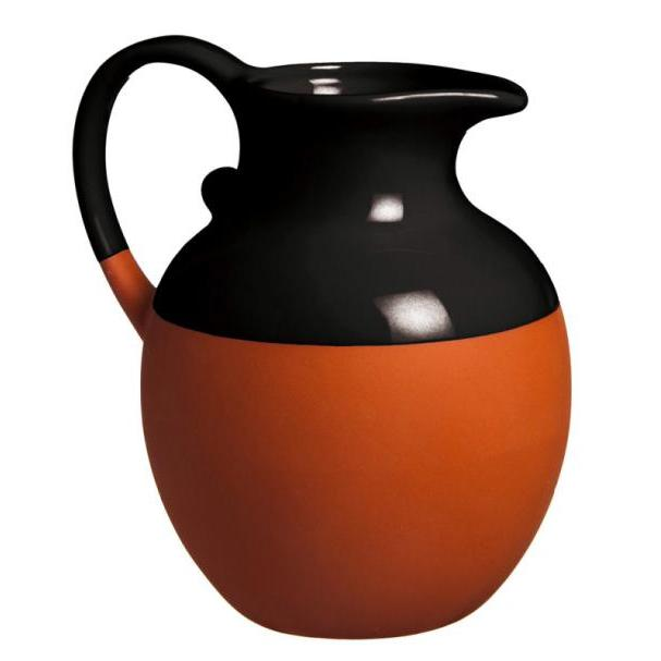Pitcher Terracotta Dipped Black