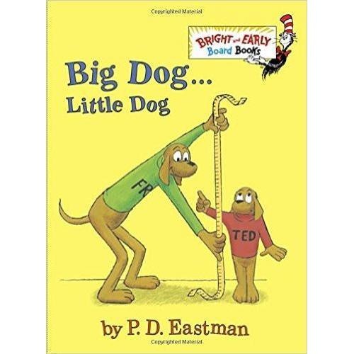Dr. Seuss Book Big Dog... Little Dog (4x5 Board Book)