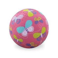 Playground Ball 7in Butterflies Pink