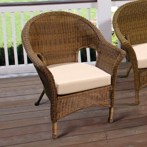 Darby Outdoor Wicker Chair Cocoa