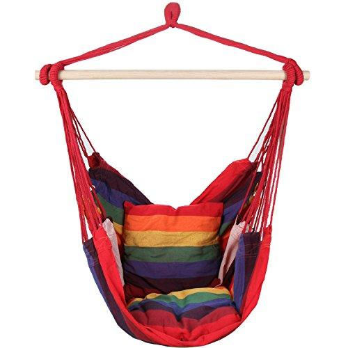 Hammock Hanging Rope Chair Rainbow