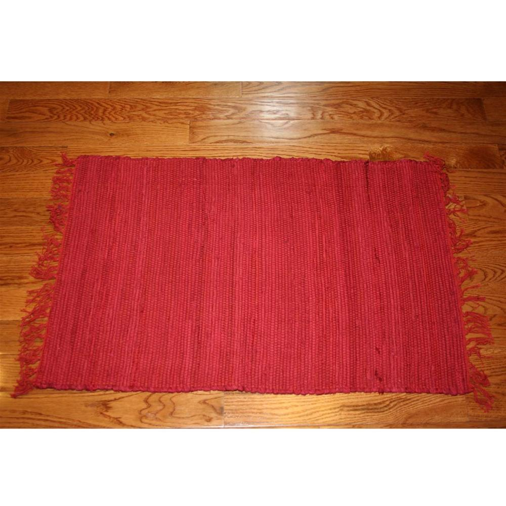 Cotton Rag Rug Rust 3x5