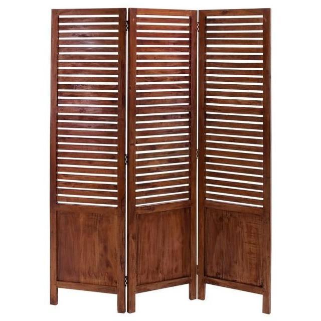 Floor Screen Wood 3 Panel 67in H X 51in W
