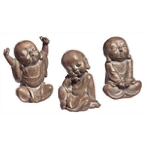 Outdoor - Decorative Garden Statue Buddha Stone Finish 3 Style Set (19.99ea)