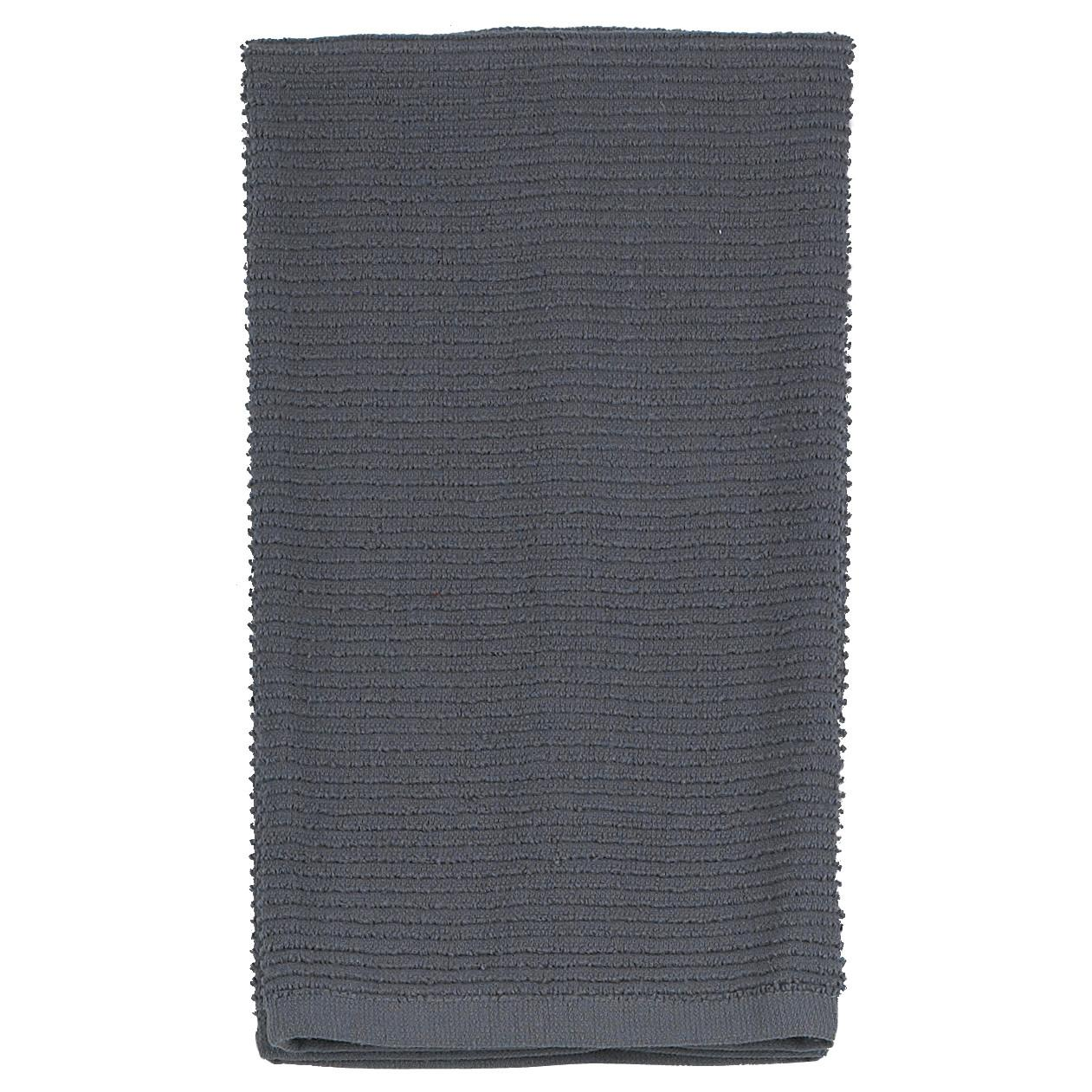 Dish Towel Ribbed Gray-charcoal
