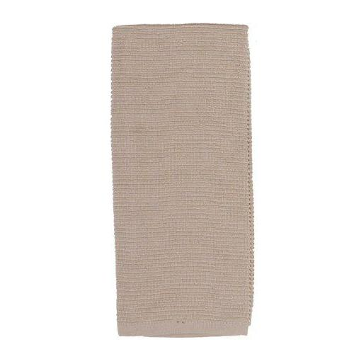 Dish Towel Ribbed Tan-champagne