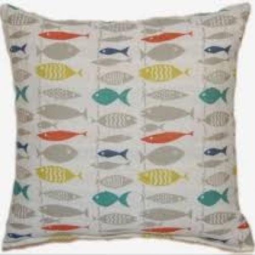Go Fish Multi Pillow 17in X 17in