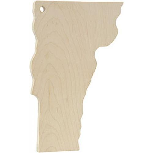 Cutting Board Vermont Shaped Homeport Laser Ingraved Logo