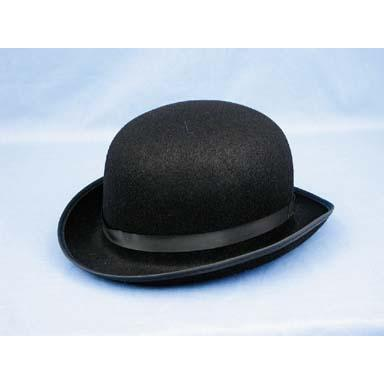 Leatherlike Derby Hat Black