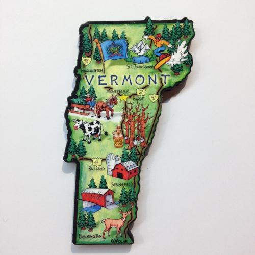 Magnet Artwood Map Magnet