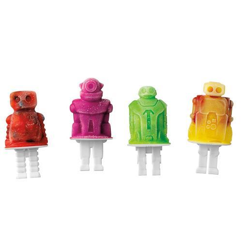 Ice Pop Mold Robot 4 Piece Set