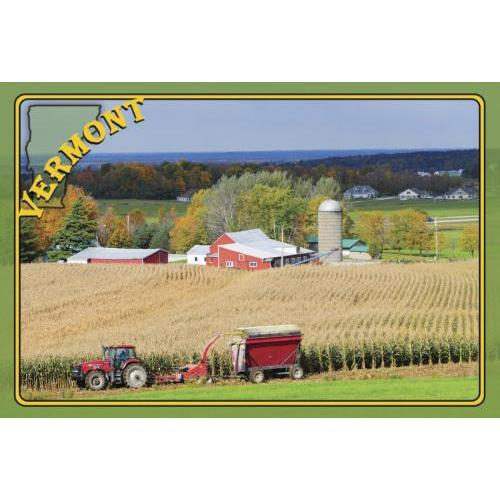 Vermont Postcard Summer Farm