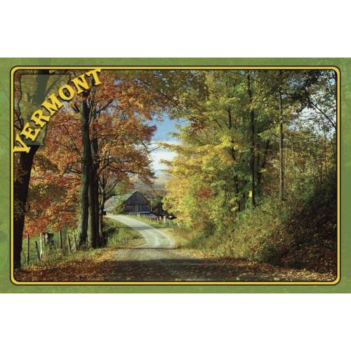Vermont Postcard Summer Road
