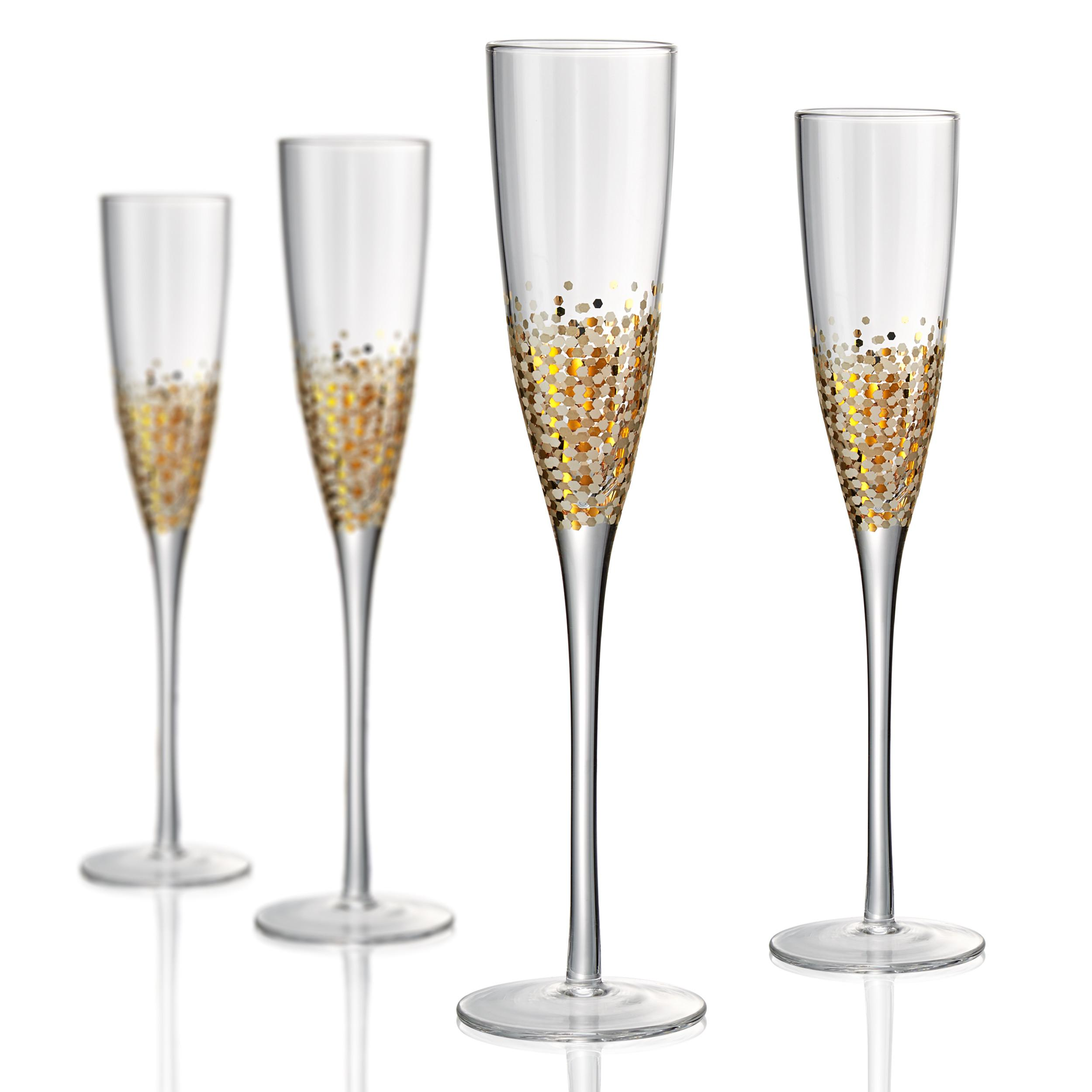 Drinkware Glass Ambrosia Gold-Dot Wine Champagne Flute 6oz