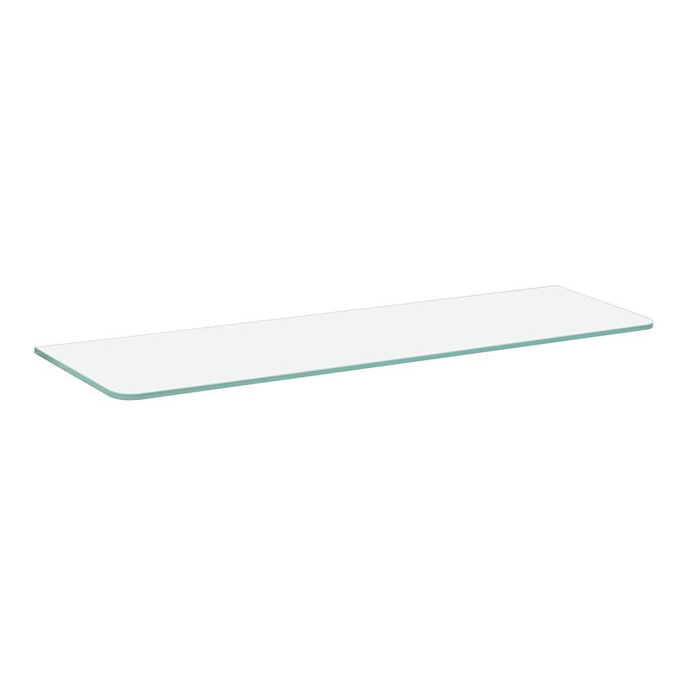 Clear Standard Glass Shelf 32in X 8in X 5/16in